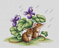 """Набор для вышивания крестом """"Luca-s""""  B1041 Мышки"""