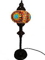 Настольный высокий турецкий светильник Sinan из мозаики ручной работы цветной 3, фото 1