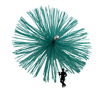 Щетка для чистки дымохода ф130мм пластиковая под резьбу