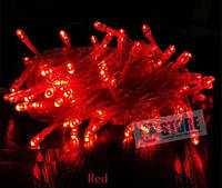 Гирлянда новогодняя светодиодная 100Led красная