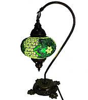 Настольный изогнутый турецкий светильник кэмэл  Sinan из мозаики ручной работы Зеленый 2, фото 1