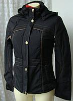 Куртка женская теплая демисезонная капюшон р.46 3902