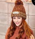 Стильна яскрава в'язана шапка вязаная, фото 2