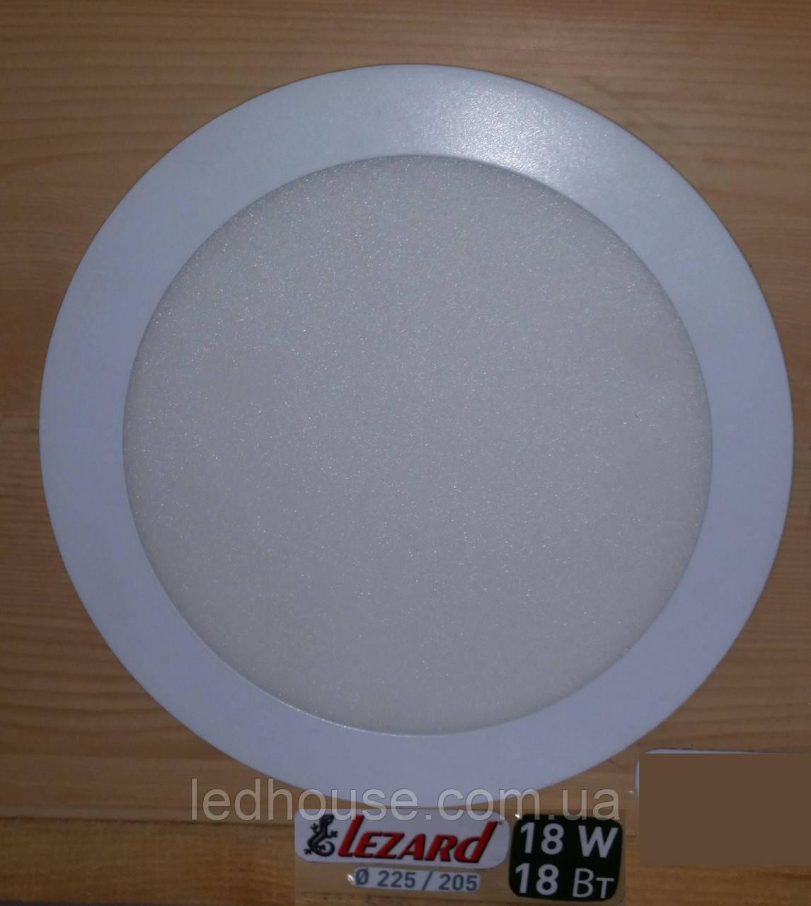 Светодиодная панель круглая-18Вт (Ø225 / Ø205) 4200K, 1440 люмен