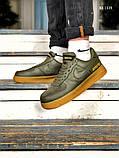 Чоловічі кросівки Nike Air Force 1 GORE-TEX (зелені), фото 2