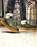 Чоловічі кросівки Nike Air Force 1 GORE-TEX (зелені), фото 3
