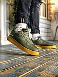 Чоловічі кросівки Nike Air Force 1 GORE-TEX (зелені), фото 4