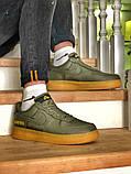 Чоловічі кросівки Nike Air Force 1 GORE-TEX (зелені), фото 6