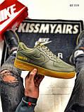 Чоловічі кросівки Nike Air Force 1 GORE-TEX (зелені), фото 7