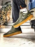 Чоловічі кросівки Nike Air Force 1 GORE-TEX (зелені), фото 8