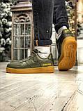 Чоловічі кросівки Nike Air Force 1 GORE-TEX (зелені), фото 9
