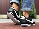 Чоловічі кросівки Nike Cortez чорні з білим, фото 4