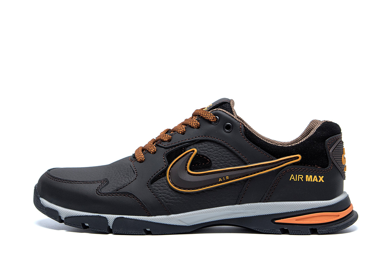 Мужские кожаные кроссовки Nike Street Style Brown
