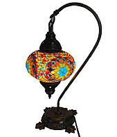 Настольный изогнутый турецкий светильник кэмэл  Sinan из мозаики ручной работы цветной 2, фото 1