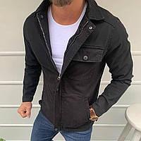 Мужская джинсовка черная