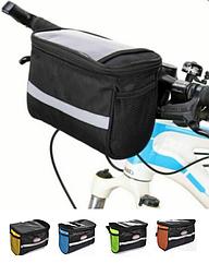 Велосумка-табло на руль / нарульная с отделением для телефона / навигатора / планшета