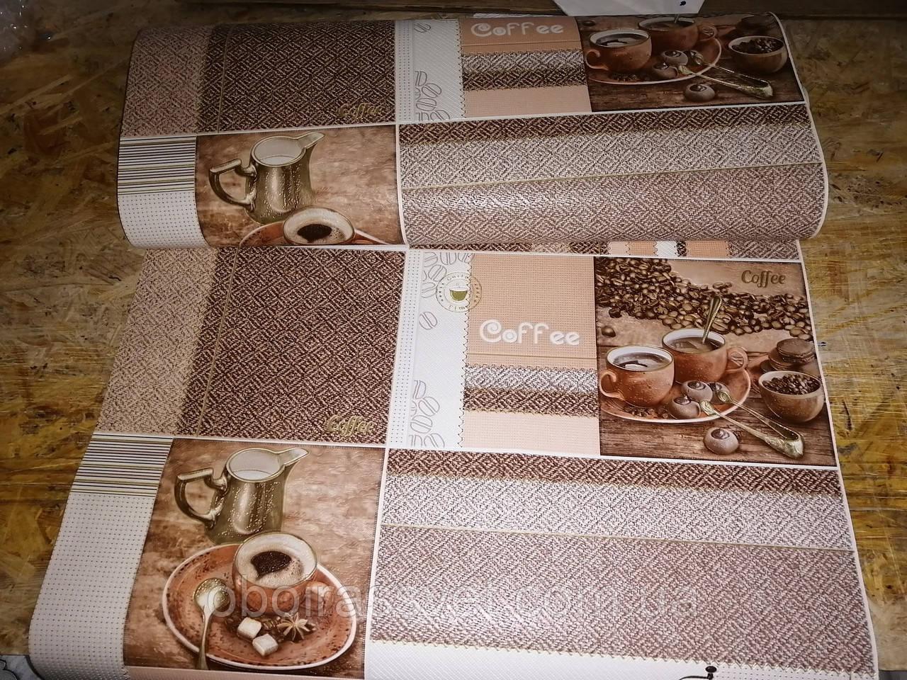 Обои Кофейня 5738-01 виниловые, супермойка длина рулона 15 м ширина 0.53м=5 полос по 3 м каждая