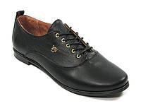 Туфли женские из натуральной кожи черные 38 р  арт 668