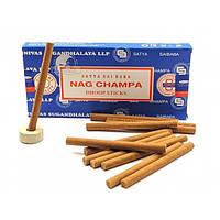 Благовония Nagchampa Dhoop Stiks.Аромапалочки Нагчампа 12 палочек (Satya) безосновные благовония