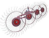"""Грабли-ворошилки тракторные ZV """"Солнышко"""" (4 колеса, польская оцинкованная граблина), фото 1"""