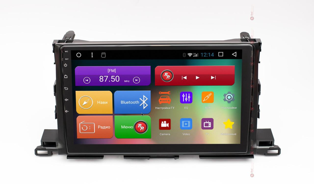 Штатное головное устройство для Toyota Highlander III U50 2014+ на Android 8 RedPower 51184 R IPS DS
