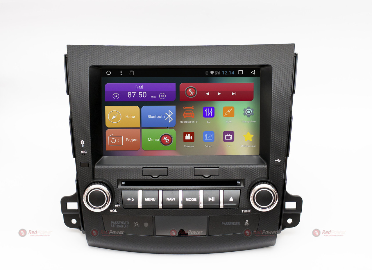 Головное устройство для Mitsubishi Outlander XL, Citroen C-Crosser, Peugeot 4007 на Android 7.1.1 Re