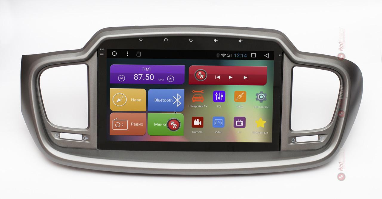Головное устройство на KIA New Sorento на Android 7.1.1 (Nougat) RedPower 31242 IPS