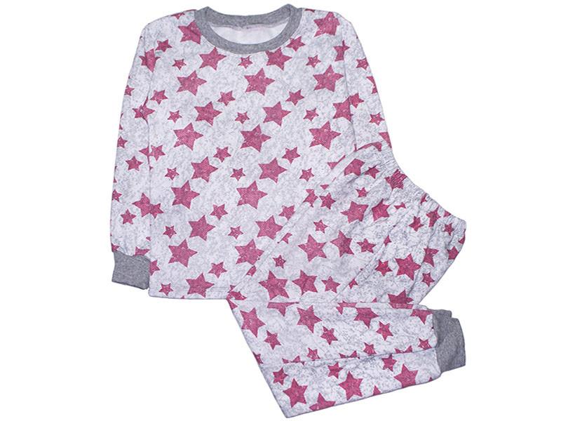 Пижама для девочки с начесом Звезды