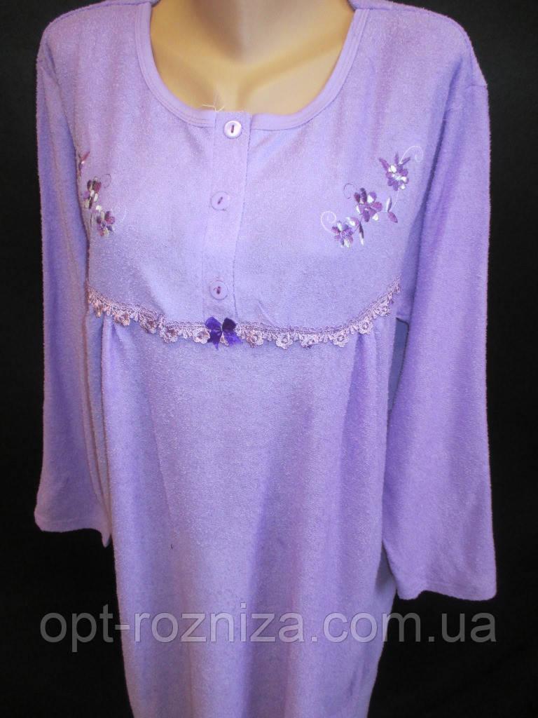 Теплые женские сорочки из махры на байке.