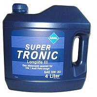 Моторное масло Aral SuperTronic Longlife III 5W-30 4л синтетика Volkswagen BMW Mercedes-Benz ACEA C3