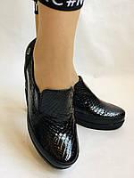 Mammamia. Женские туфли на средней танкетке.Натуральная лакированная кожа.Турция. Размер 35,36,38,39,40, фото 2