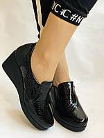Mammamia. Женские туфли на средней танкетке.Натуральная лакированная кожа.Турция. Размер 35,36,38,39,40, фото 3