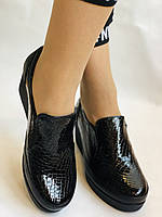 Mammamia. Женские туфли на средней танкетке.Натуральная лакированная кожа.Турция. Размер 35,36,38,39,40, фото 4