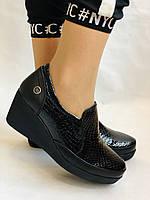 Mammamia. Женские туфли на средней танкетке.Натуральная лакированная кожа.Турция. Размер 35,36,38,39,40, фото 7
