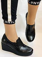 Mammamia. Женские туфли на средней танкетке.Натуральная лакированная кожа.Турция. Размер 35,36,38,39,40, фото 6