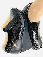Mammamia. Женские туфли на средней танкетке.Натуральная лакированная кожа.Турция. Размер 35,36,38,39,40, фото 8