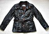 Жіноча шкіряна куртка Б/У Розмір S / 44-46, фото 4