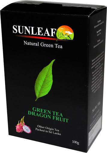 Чай зелёный ( заварной) SUNLEAF  с дракон-фруктом 100 грамм