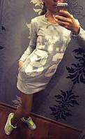 Платье женское NYC серое , женская одежда