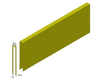Скоба для пневмостеплера Bizon 14/40z (10.5мм х 40мм.) Скоба для пневматического пистолета (13кг упаковка), фото 2