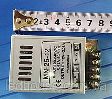 Блок питания 25 Вт,(2,08А)12В. Mini