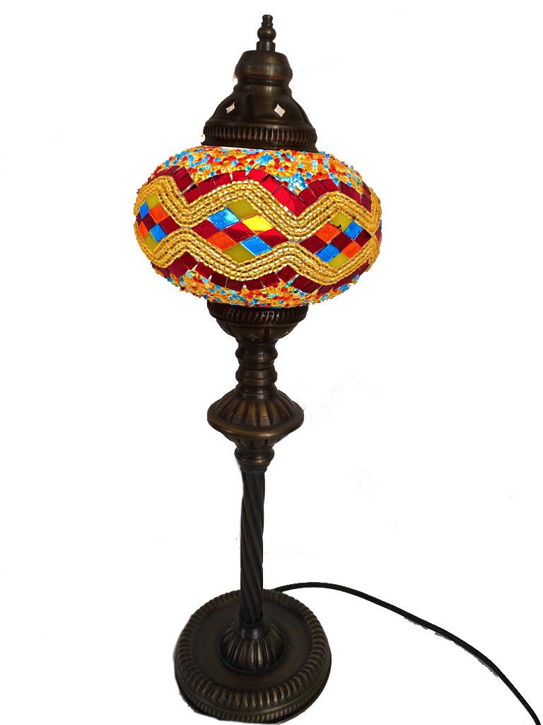 Настільний високий турецький світильник Sinan з мозаїки ручної роботи кольоровий 9
