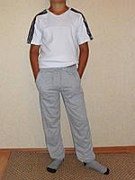Штаны спортивные серые на шнурке и манжете детские