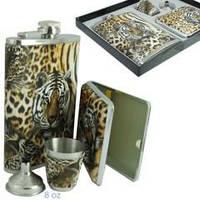 """Подарочный набор """"Хищник"""". Фляга, портсигар, стаканчик и лейка., 907170"""