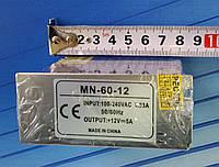 Блок питания 60 Вт,(5А)12В. Mini