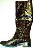 Сапоги зимние женские кожаные высокие лак 37 размер (24.5, фото 5