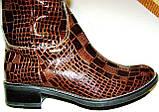 Сапоги зимние женские кожаные высокие лак 37 размер (24.5, фото 2