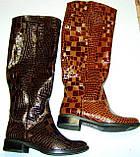 Сапоги зимние женские кожаные высокие лак 37 размер (24.5, фото 6