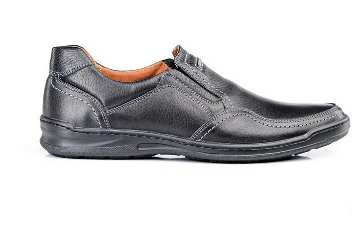 Чоловічі шкіряні туфлі Comfort Walk black