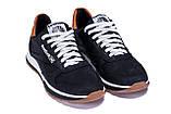 Чоловічі шкіряні кросівки Reebok Classic Leather Black Trail, фото 3